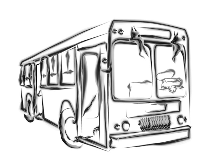 Drawing angels and a ghost bus. | Siib-Aholic